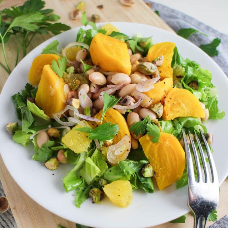 Vegan Salad Recipes Golden Beet White Bean Orange Salad