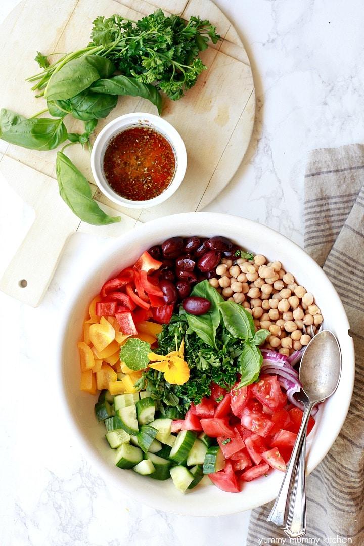 Vegan Salad Recipes Healthy Vegan Greek Salad