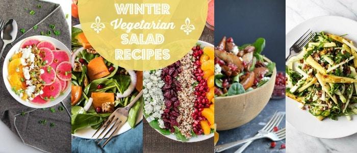 Winter Vegetarian Salad Recipes on Rainbow Delicious
