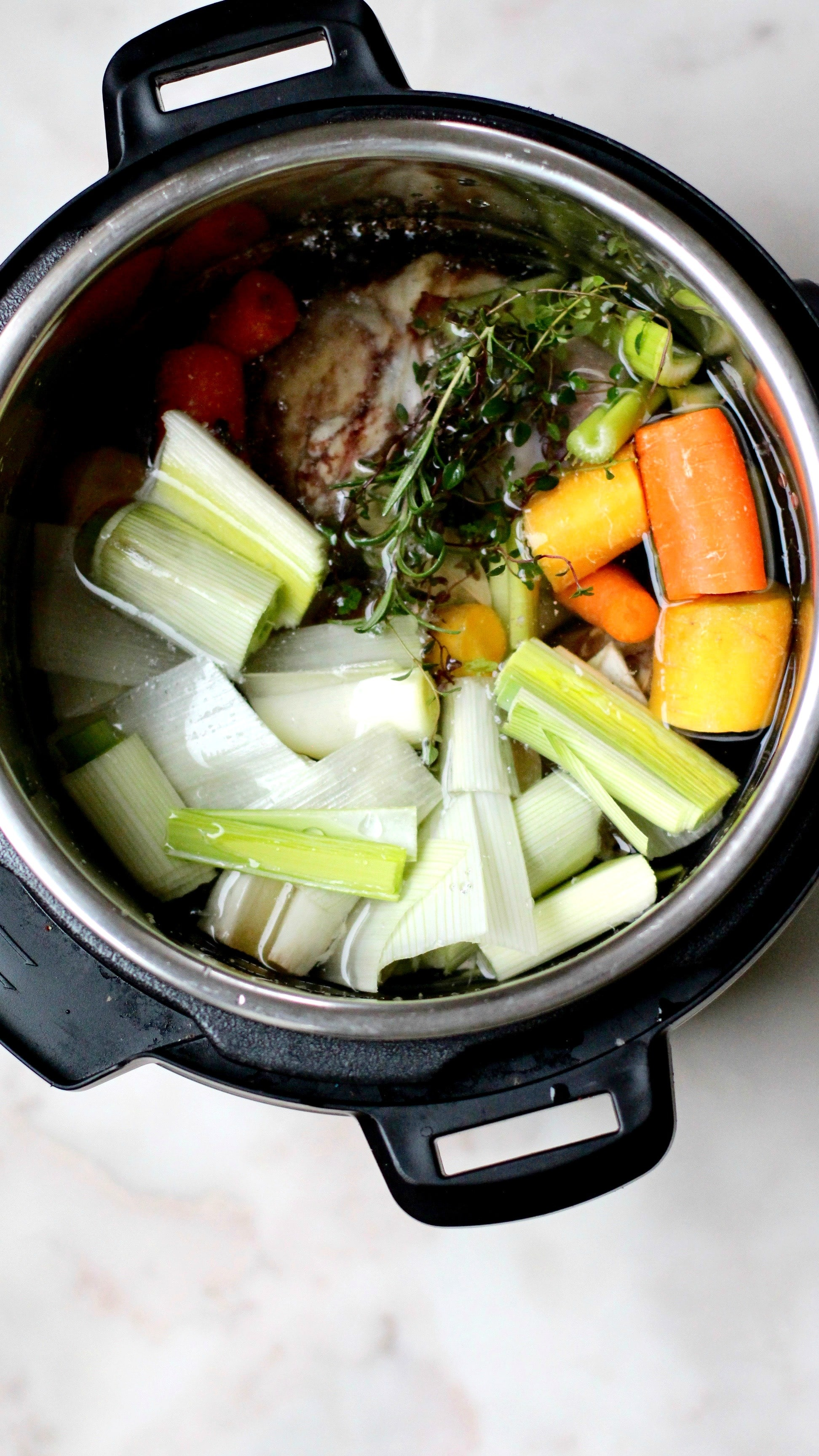 Instant Pot Beef Bone Broth Recipe Ingredient in Instant Pot