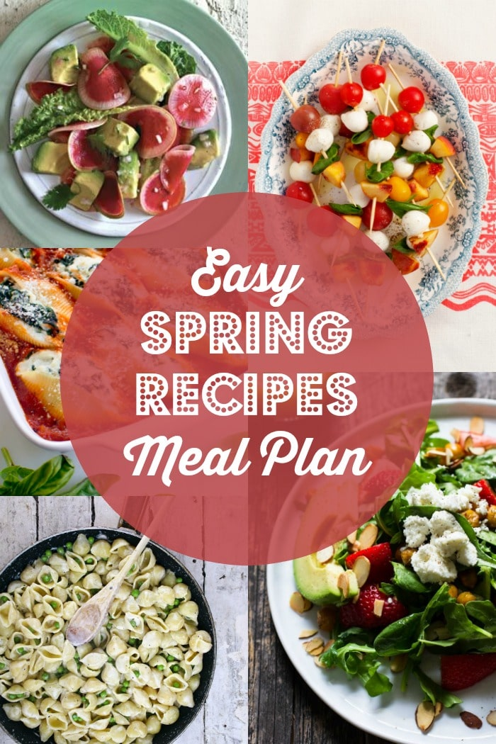 Easy Spring Recipes Meal Plan Rainbow Delicious