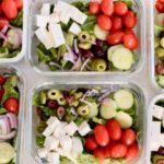 easy greek salad meal