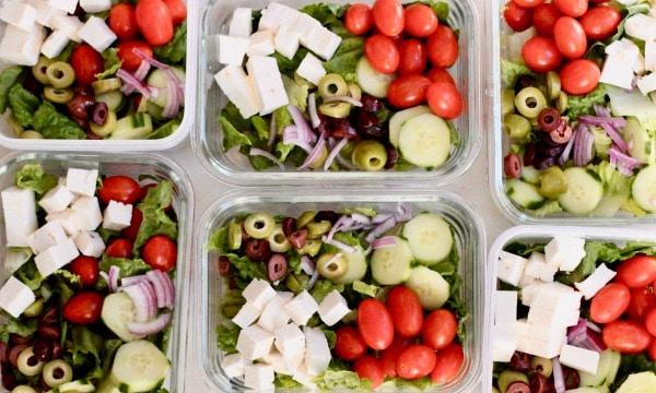 Lunch Meal Prep Greek Salad Bowl Recipe