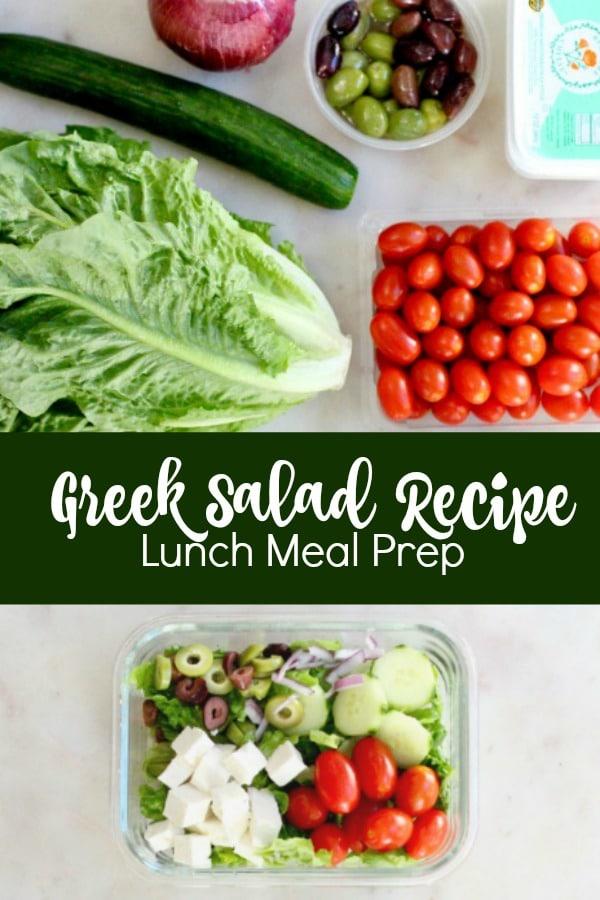 Lunch Meal Prep Greek Salad Bowl Recipe Image