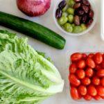 ingredients greek salad meal prep