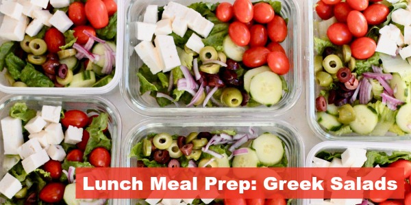 Lunch Meal Prep Greek Salad Bowl Recipe for a week