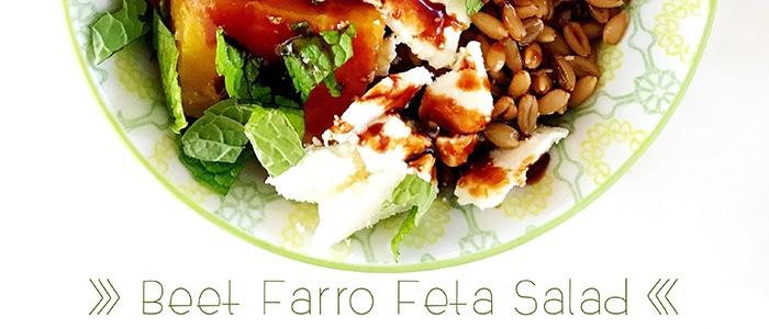 beet farro feta salad recipe