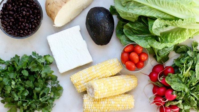 Lunch Meal Prep Black Bean Jicama Salad Recipe Ingredients