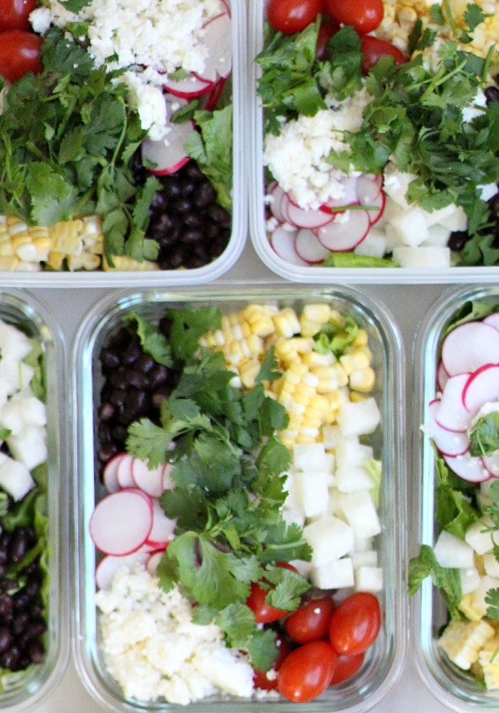 Lunch Meal Prep Black Bean Jicama Salad Recipe to Make Life Easier