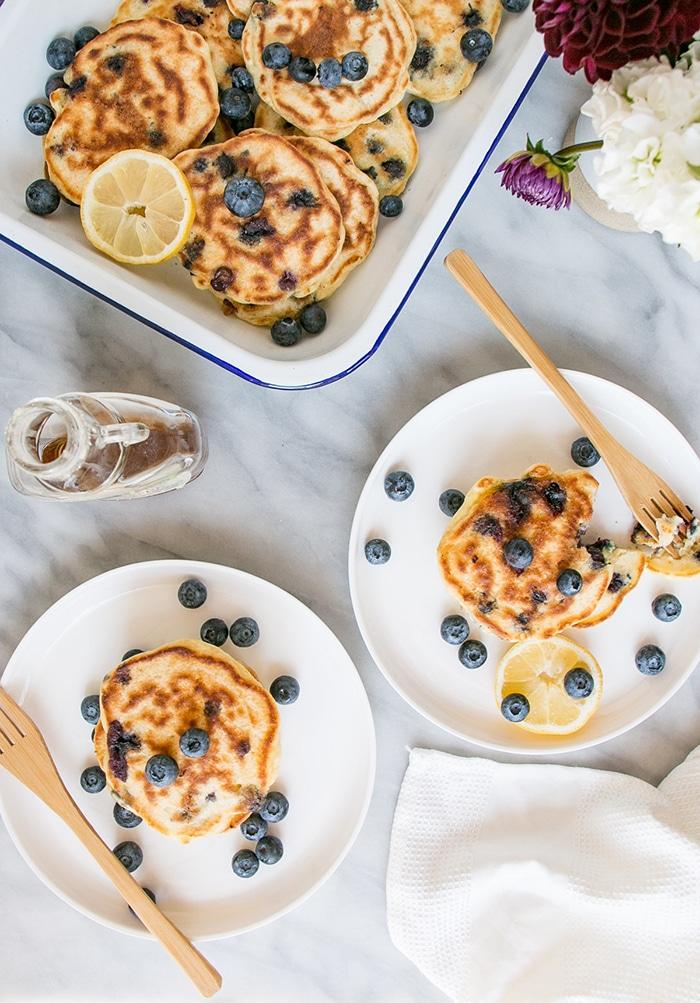 lemon recipes lemon blueberry pancakes
