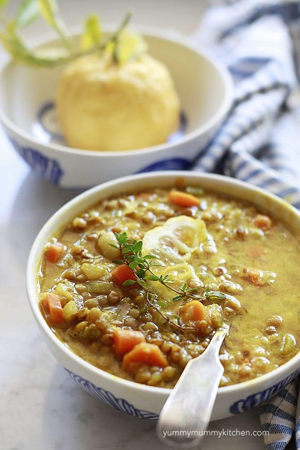 lemon recipes lemon lentil soup