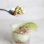 the best avocado yogurt breakfast parfait with lime