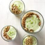 simple avocado yogurt breakfast parfait