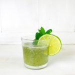 homemade chia drink with lime and honey
