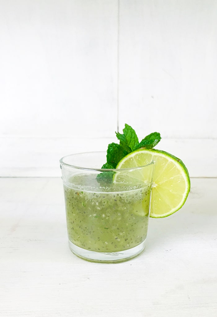 Mint Chia Seed Limeade Recipe on Rainbow Delicious