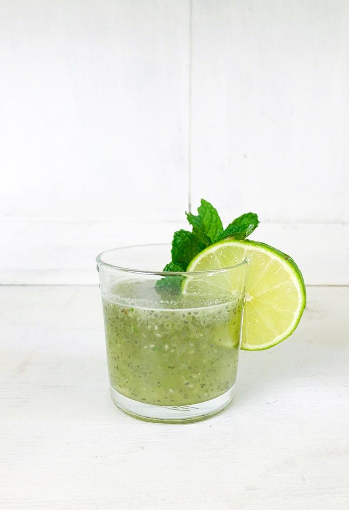 15 Lime Recipes- Chia Mint Limeade