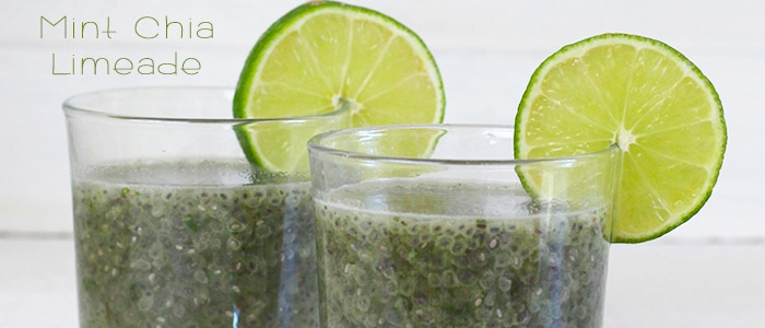 Mint Chia Seed Limeade Recipe with Honey