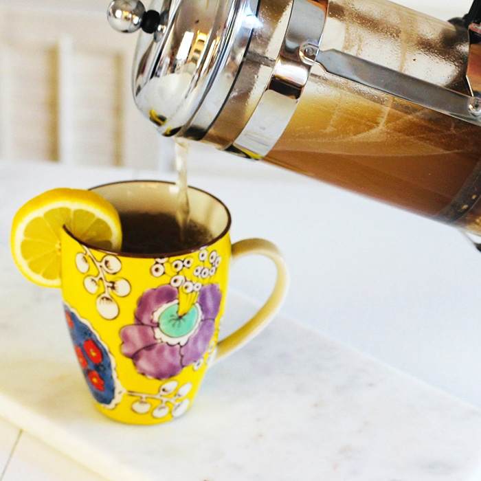 Turmeric Ginger Tea Recipe pouring