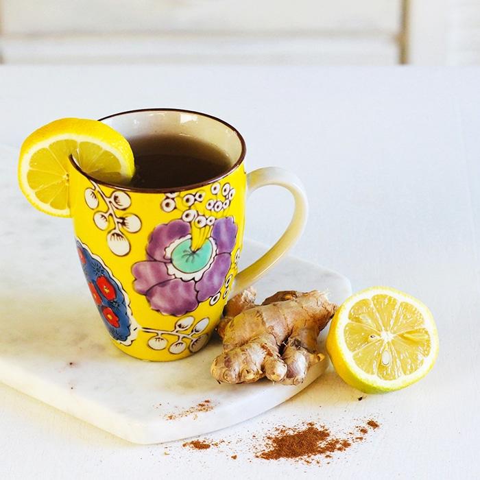 turmeric ginger tea recipe with lemon