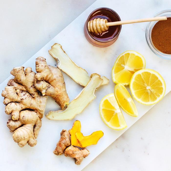 Turmeric Ginger Tea Recipe with raw honey