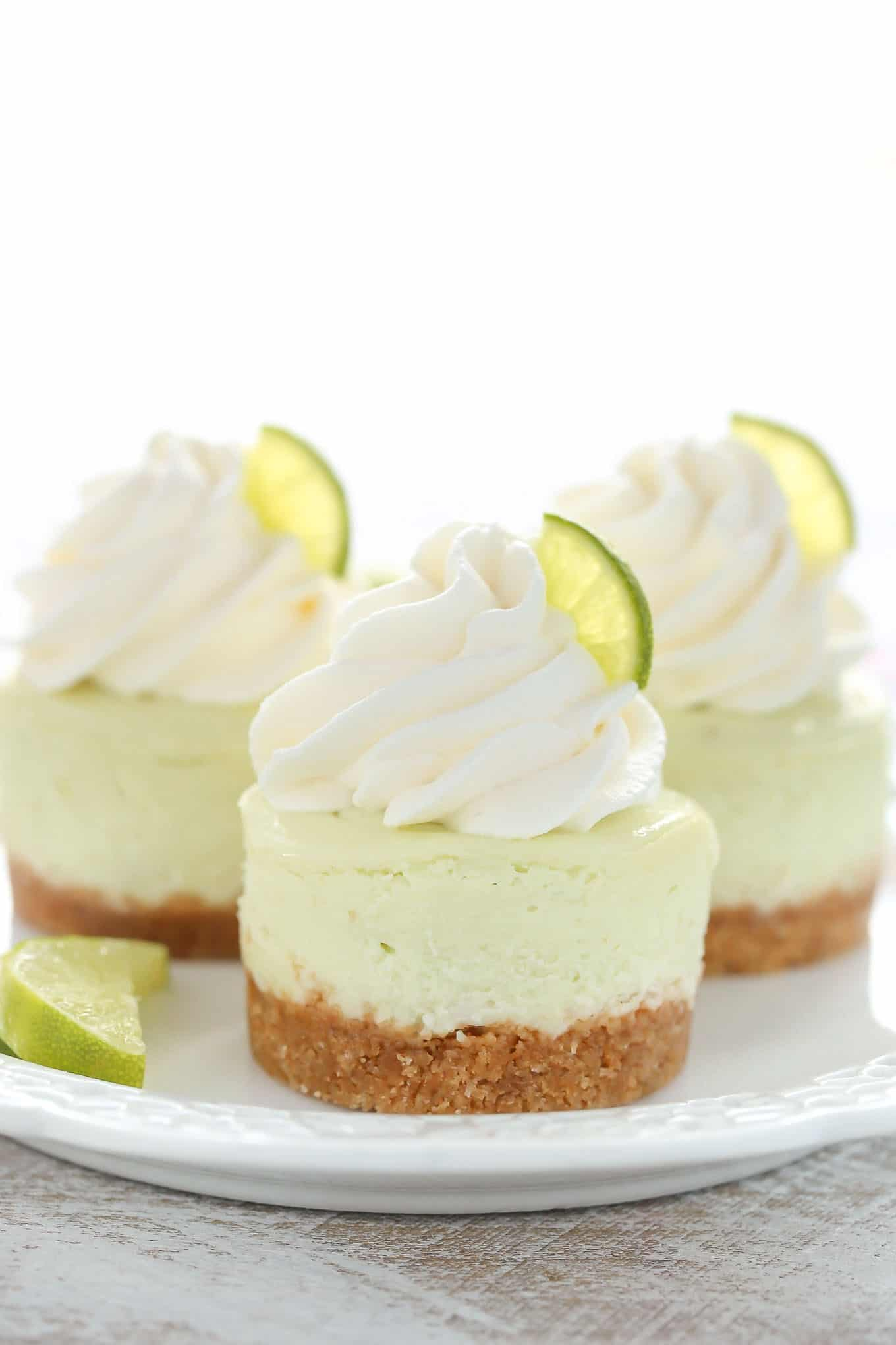 15 Lime Recipes Everyone Will Love- Mini Lime Cheesecakes