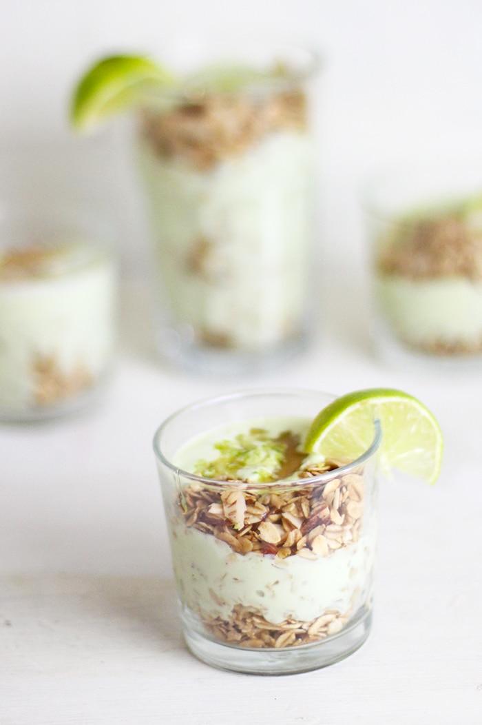 Lime Recipes- Lime Avocado yogurt Parfait