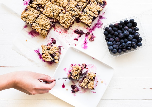 Blueberry Recipes - Blueberry Crumble Bars