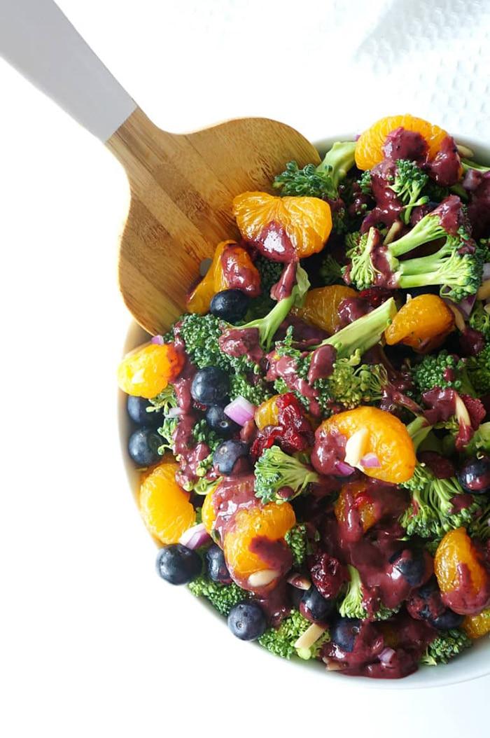 Blueberry Recipes - Blueberry mandarin broccoli salad
