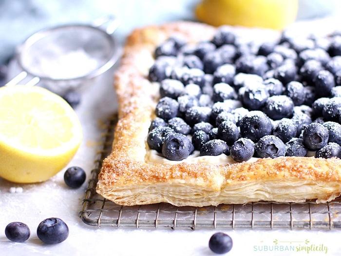 blueberry recipes- heavenly blueberry tart