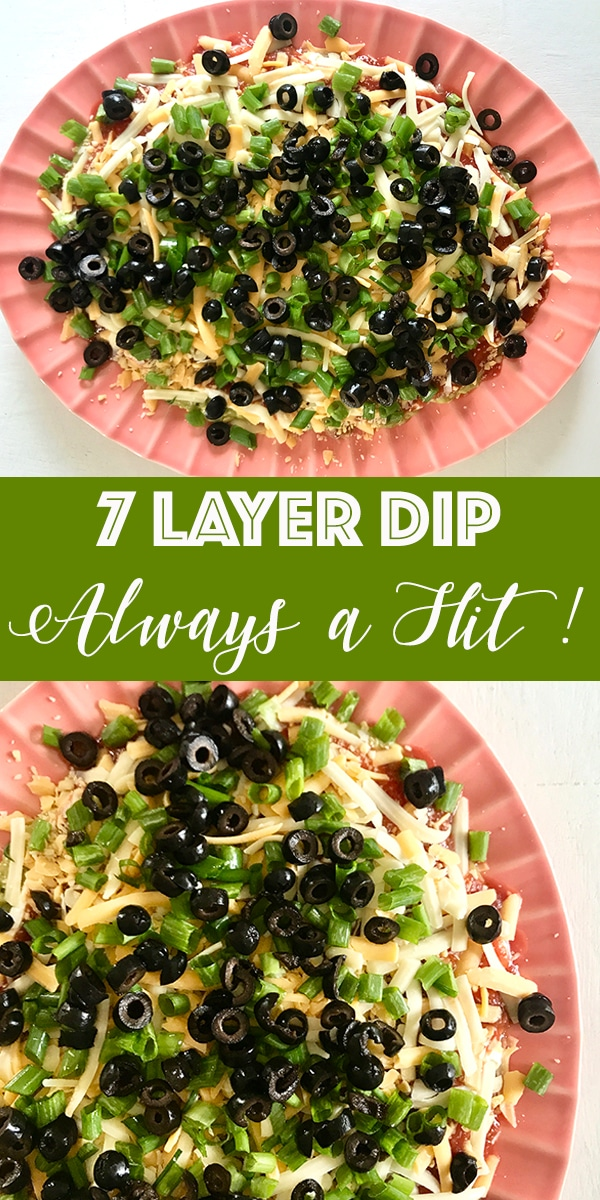 7 layer dip recipe on rainbow delicious