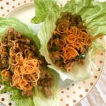 Cashew Chicken Lettuce Wraps with Carrots