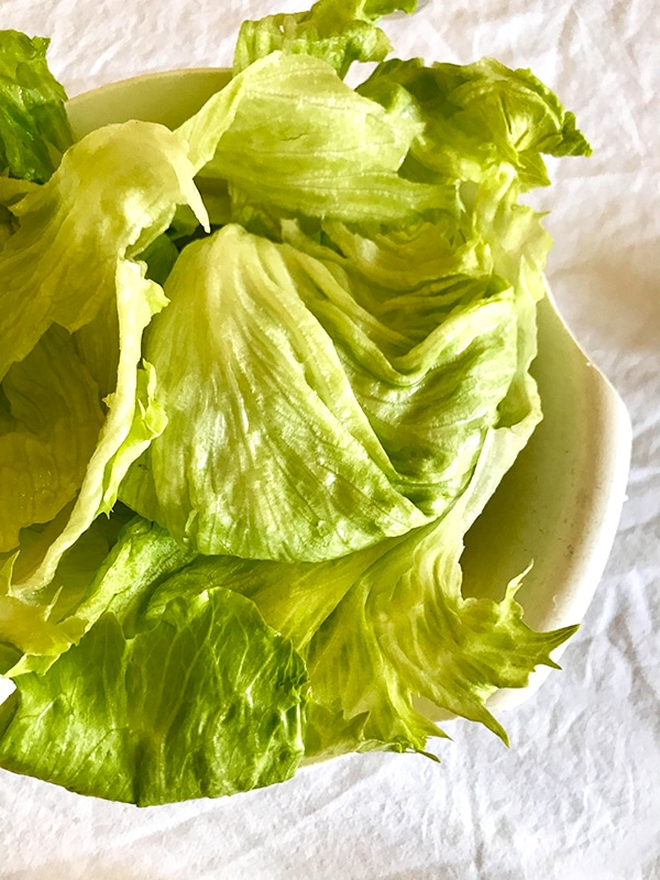 Lettuce for Cashew Chicken Lettuce Wraps Recipe