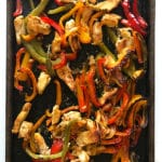 Simple Sheet Pan Chicken Fajitas cooked