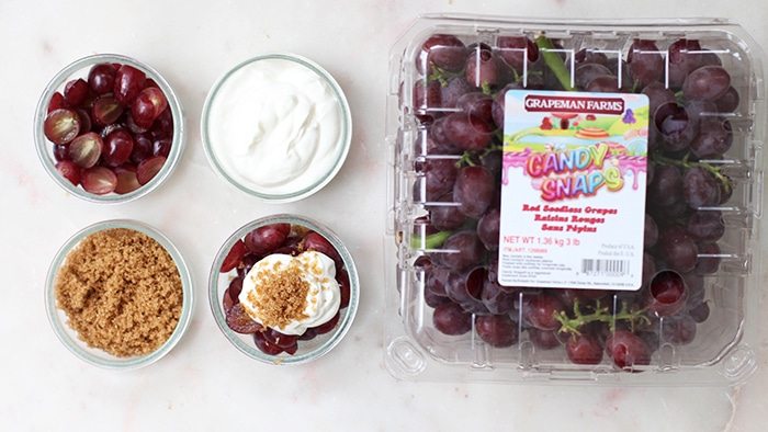 Candy Snaps® Grapes with Sour Cream and Brown Sugar Recipe on Rainbow Delicious