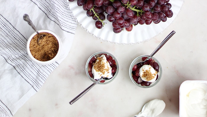 Candy Snaps® Grapes with Sour Cream and Brown Sugar Ingredients