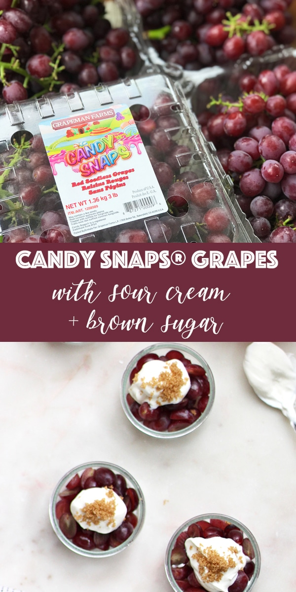 Candy Snaps® Grapes with Sour Cream and Brown Sugar Recipe