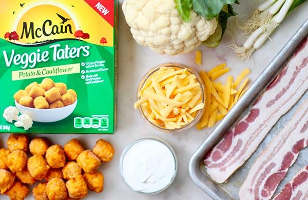 Ingredients Veggie Tater Nachos with Roasted Cauliflower