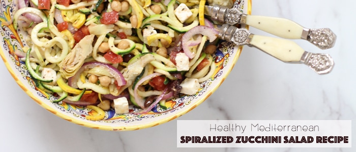 spiralized zucchini salad