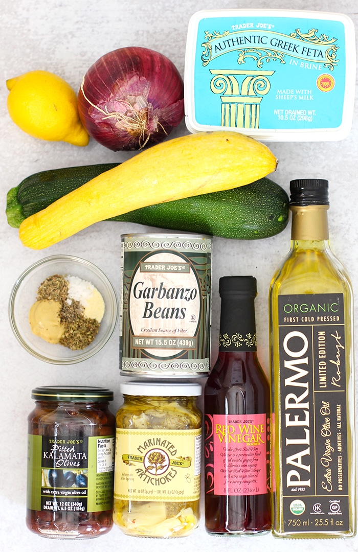 Ingredients for Healthy Spiralized Zucchini Salad