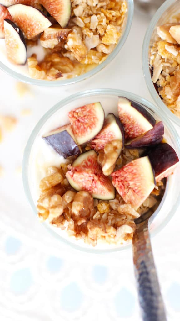 Recipe for Honey Yogurt Fig Breakfast Parfait
