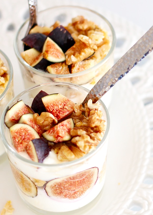 Walnut Honey Yogurt Fig Breakfast Parfait