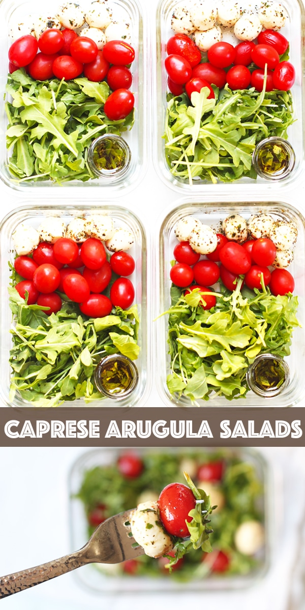 Easy and Healthy Meal Prep Caprese Arugula Salad
