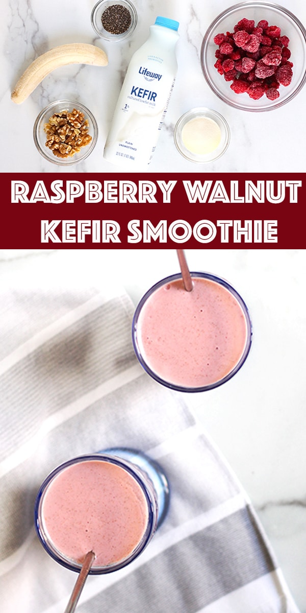 Raspbery Walnut Kefir Smoothie on Rainbow Delicious Blog