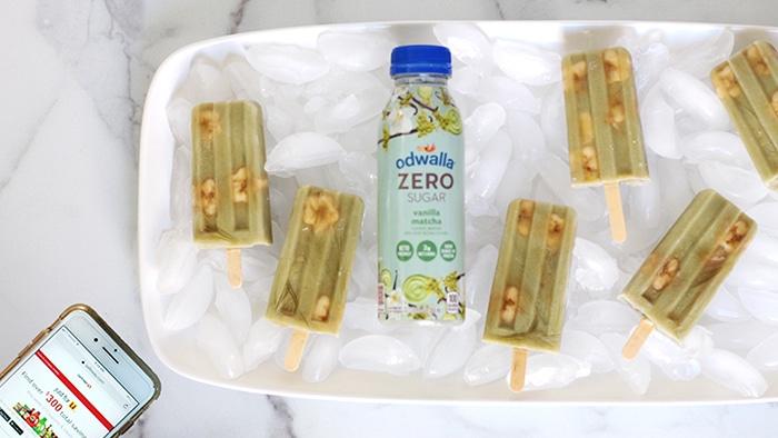 Matcha Banana Ice Pops Recipe on Rainbow Delicious