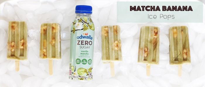 Matcha Banana Ice Pops on Rainbow Delicious