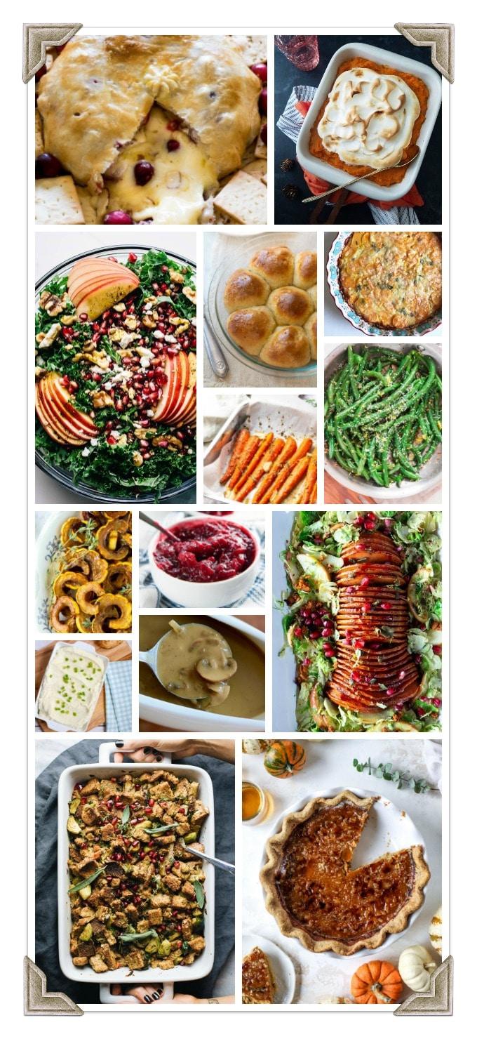 Full Vegetarian Thanksgiving Menu