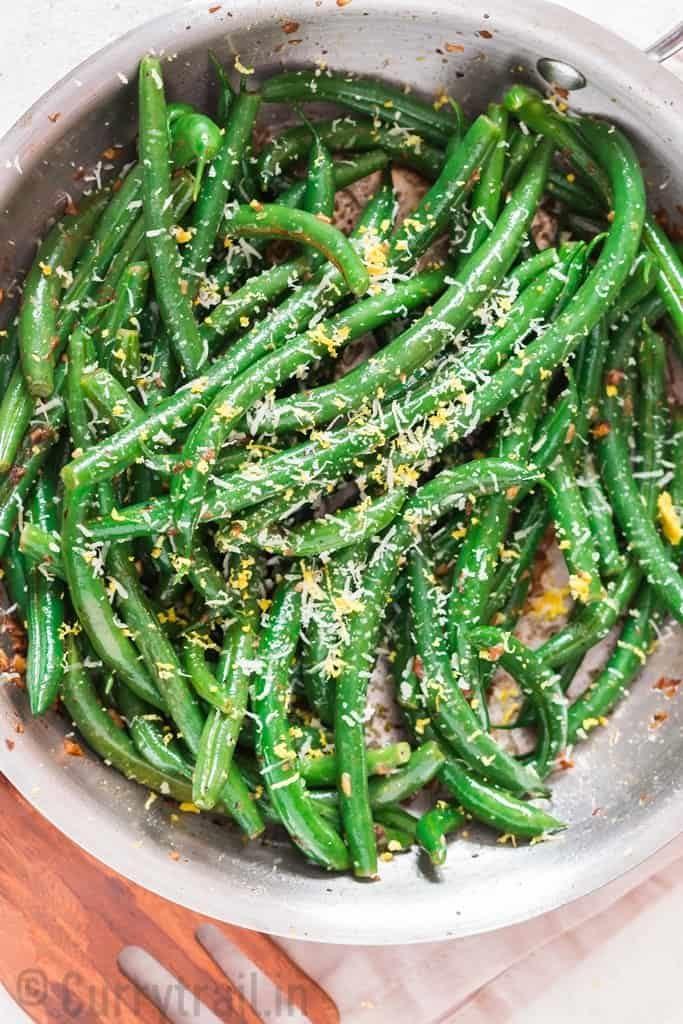 green beans Vegetarian Thanksgiving Menu