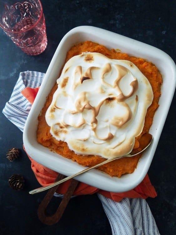 sweet potato with meringue Vegetarian Thanksgiving Menu