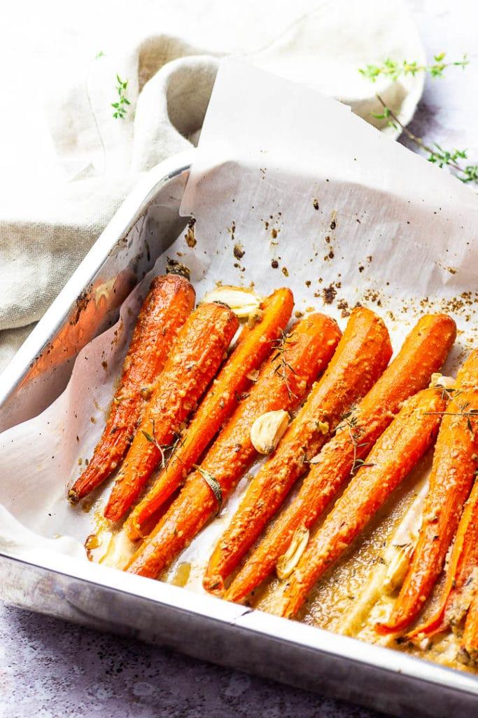 roasted carrots Vegetarian Thanksgiving Menu