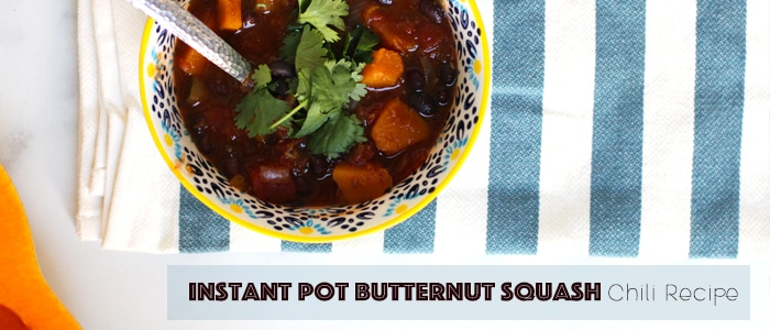 instant pot easy butternut squash chili vegetarian